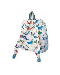Summer Sharks Kids Large Backpack with Mesh Pocket