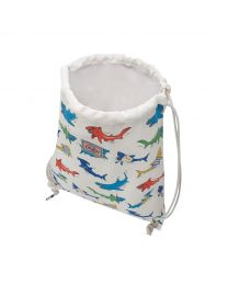 Summer Sharks Kids Drawstring Bag