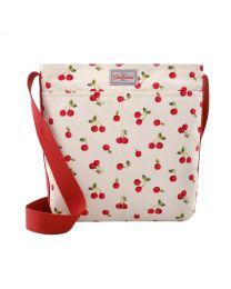 Cherries Zipped Messenger Bag