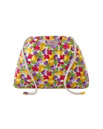 Small Painted Fruit Drawstring Pouch