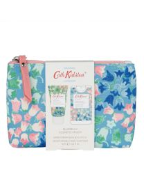 Painted Bluebell Cosmetic Pouch (with 30ml Hand Cream and 15ml Moisturising Antibacterial Hand Spray)