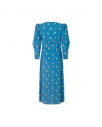 Forget me not Printed Tea Dress