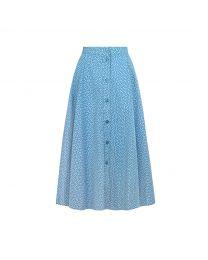 Scattered Spot Button-through Midi Skirt