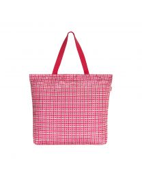 Painted Check Large Foldaway Tote