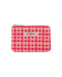 Painted Check Small Double Pocket Purse