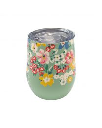 Portland Flowers Stainless Steel Travel Cup