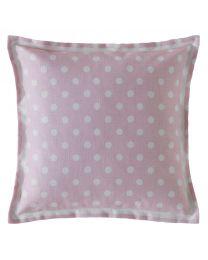 Button Spot Blush Square Cushion