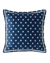 Button Spot Navy Square Cushion