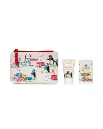 Festive Party Animals Cosmestic Pouch with 30ml Hand Cream & 15ml Moisturising Hand Sanitiser