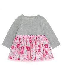Broomfield Blooms Baby Girls Sweat Mix Dress