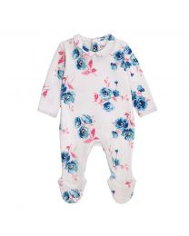 Baby Sleepsuit With Peter Pan Collar