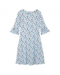 Ponte Flue Sleeved Dress
