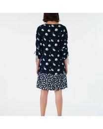 Scattered Cosmos Viscose Crepe Dress