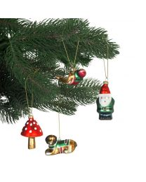 Christmas Decoration - Set of 4 Glass Blown