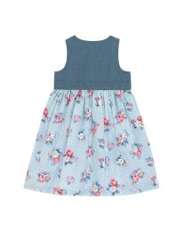 Islington Spots Chambray Pinafore Dress