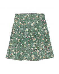 Wild Daisies Flat Viscose Tiered Skirt