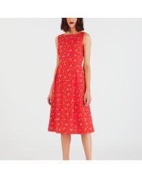Posey Sleeveless Printed Broderie Anglaise Dress