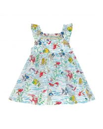 Mini Ocean Fish Baby Darcy Dress with Built in Bodysuit