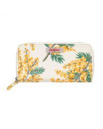 Mimosa Flower Continental Zip Wallet