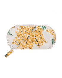 Mimosa Flower Zip Around Glasses Case
