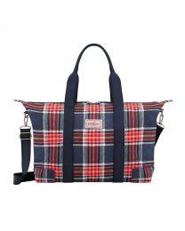 Clarendon Check Foldaway Overnight Bag
