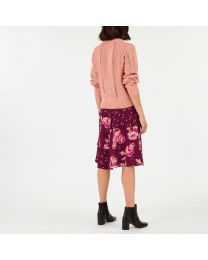 Pink Pointelle Knit Jumper