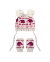 Mini Garden Club Baby Knitted Hat & Mitten Set