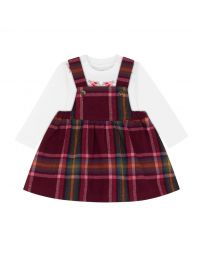 Clarendon Check Baby Pinafore and Bodysuit Set