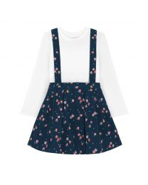 Wimbourne Rose Kids Pinafore and Tshirt Set