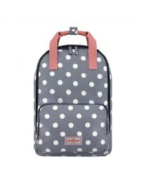 Button Spot Twill Front Pocket Backpack