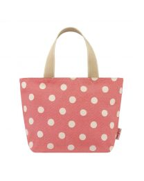 Button Spot Twill Lunch Tote