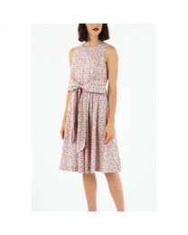 Ashbourne Ditsy Tie Waist Dress