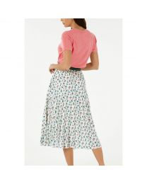 Bathing Frogs Pleated Skirt