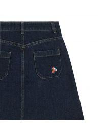 Rollerskates Embroidered Denim Skirt