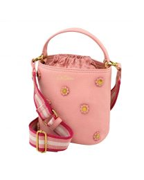 Small Leather Bucket Cross Body Bag