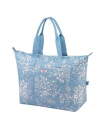 Washed Rose Embroidered Overnight Bag