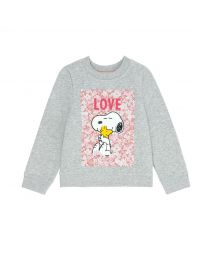 Snoopy Love Paper Ditsy Kids Sweatshirt