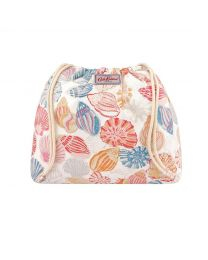 Seaside Shells Drawstring Basket Pouch