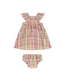 Strawberry Gingham Baby Darcy Dress
