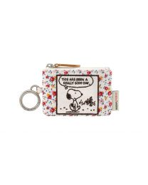 Snoopy Tiny Rose I.D Purse with Keyring