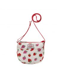 Sweet Strawberry Half Moon Handbag