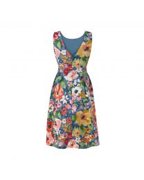 Painted Bloom Tie Waist Dress