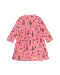 Woodland Bear Baby Long Sleeve Jersey Dress