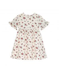 Millfield Rose Ditsy Kids Frill Sleeve Dress