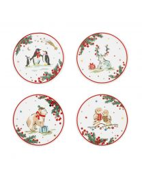 Festive Party Animals Set of 4 Coasters