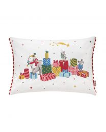 Festive Party Animals Xmas Cushion