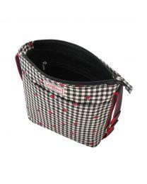 Ladybug Gingham Zipped Messenger Bag