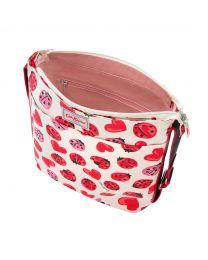 Lovebugs Zipped Messenger Bag