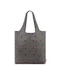 Ladybug Gingham Foldaway Shopper