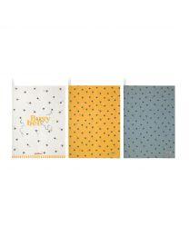 Bee Set of Three Tea Towels